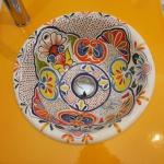 Vasque décorée